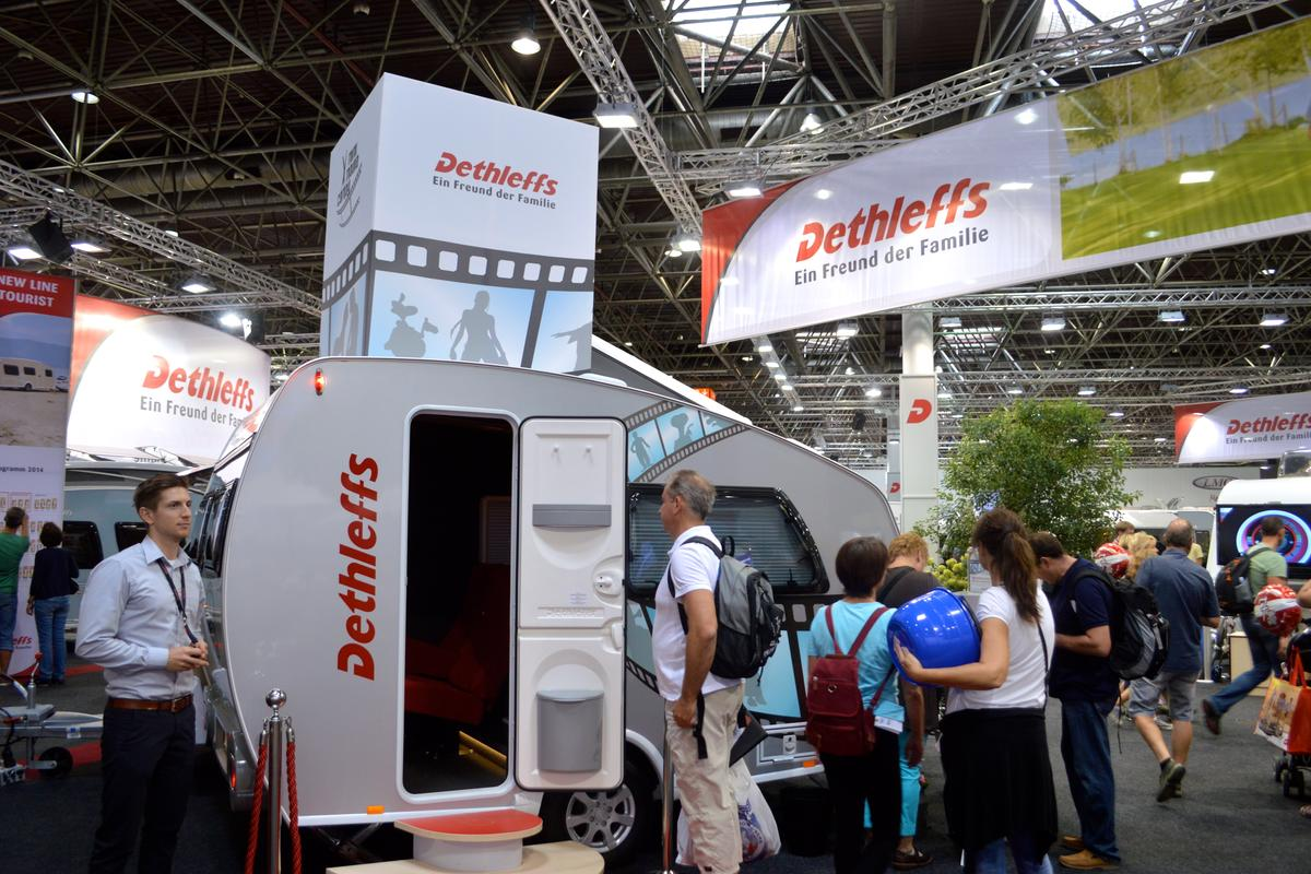 The small camper measures 12.2 feet (3.72 m) in length