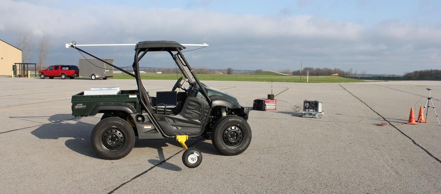 The four-wheel independently actuated (FWIA) car (Photo: Junmin Wang, courtesy ofOhio State University)