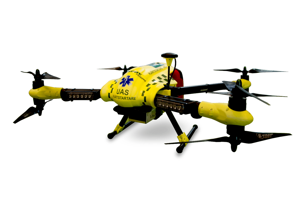 A new study has shown that a drone can be dispatched and arrive at the scene of an emergency over four times faster than an ambulance