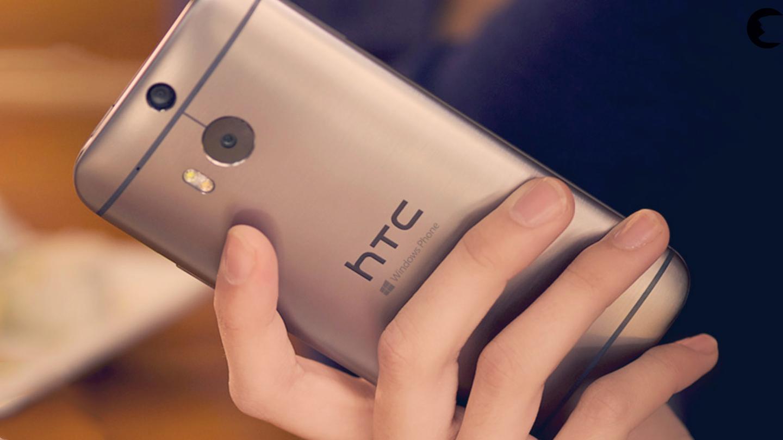 The Windows Phone variant of the One M8 has the same aluminum unibody finish