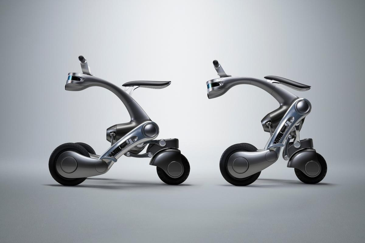 The CanguRo personal assistant/smart scooter can follow its user around or provide a motor-driven ride