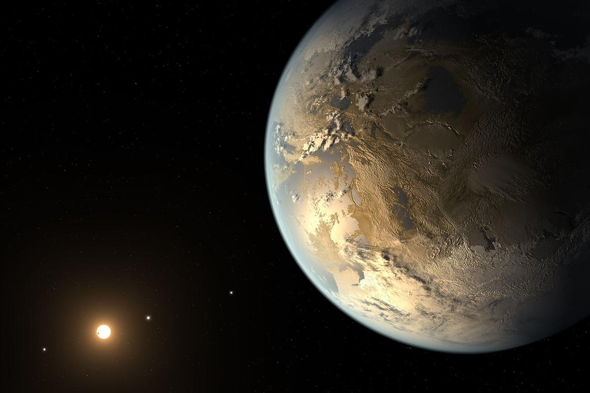 Artist's concept of the first validated Earth-sized exoplanet found by the Kepler Space Telescope