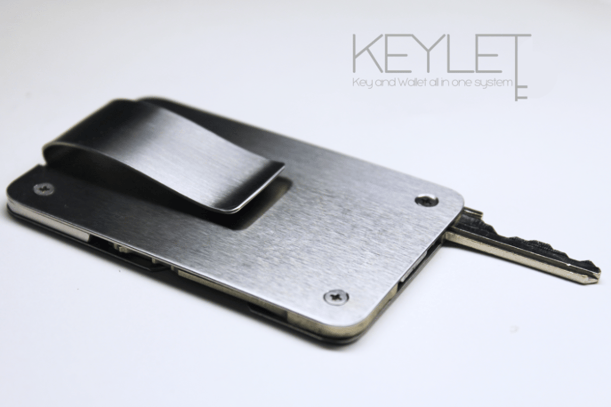 The KeyLet is a key and a wallet in one device