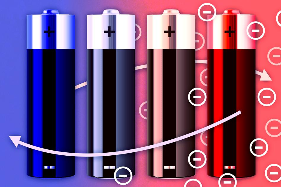 Waste heat allows batteries to charge at a lower voltage than would normally be required, generating excess electricity (Image: Jose-Luis Olivares/MIT)
