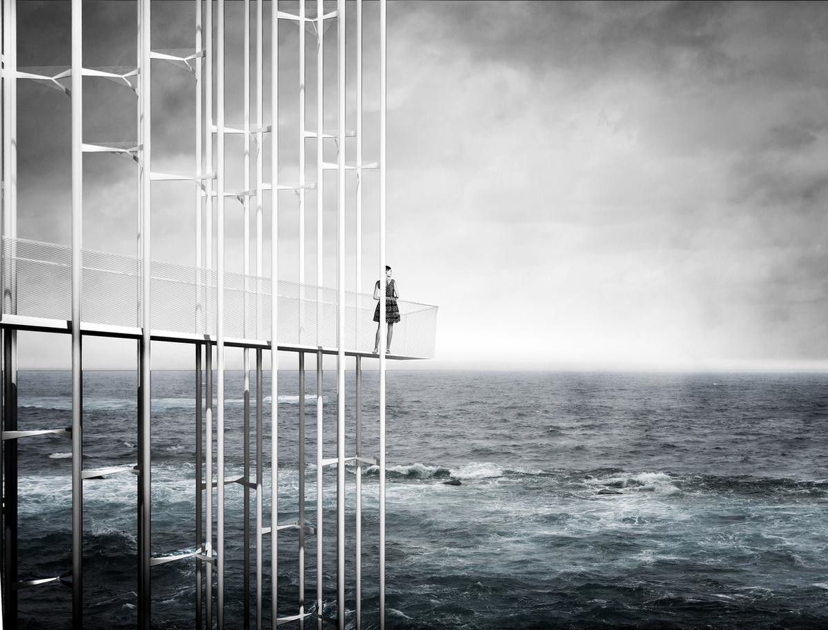 Concordia Landscape snagged first place honors with an abstract, deconstructed take on the lighthouse
