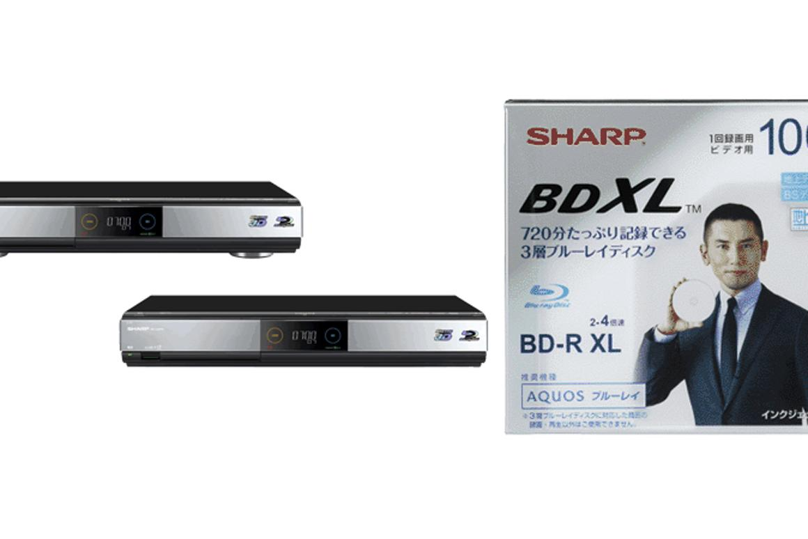 Sharp's new BD-HDW700 and BD-HDW70 Blu-ray disc recorders and VR-100BR1 media will be the first BDXL conformant hardware and media on the market