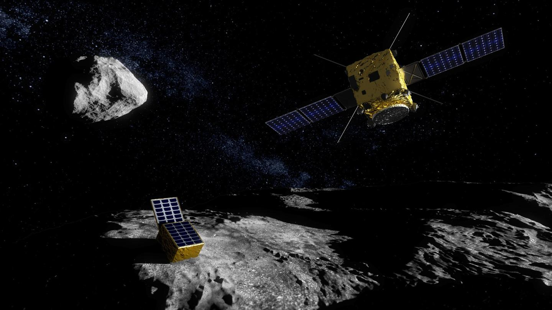 AIM having deployed its lander