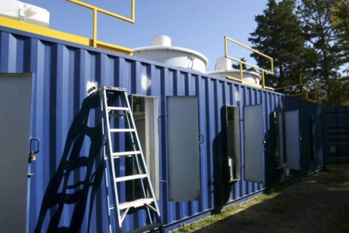 Portable, self-sustaining technology can transform wastewater to EPA standards within 24-48 hoursPhoto: Tyler Telegraph