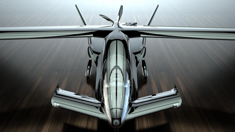 El X5 parece un avión totalmente convencional con las alas cerradas, aunque sea particularmente atractivo