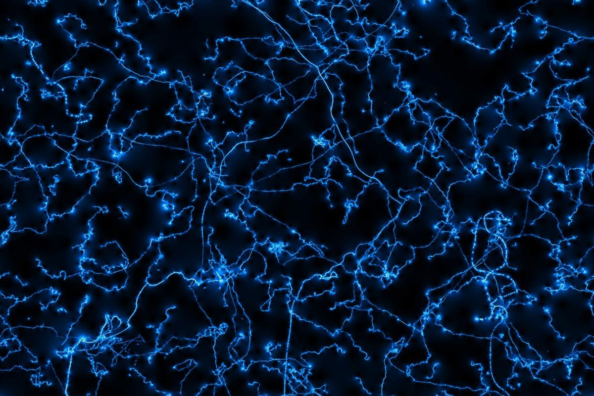 A simulated image of cosmic strings