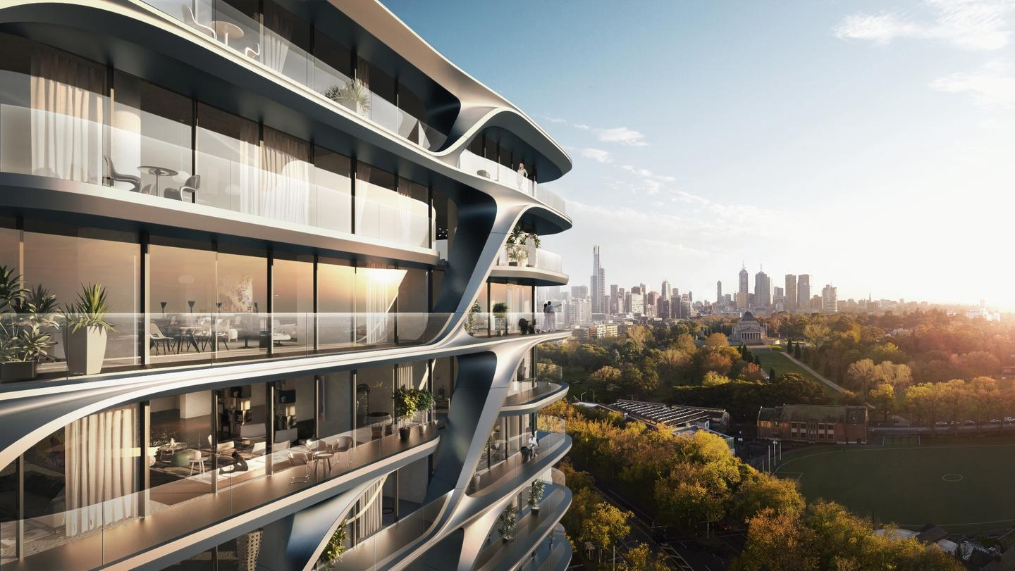 The design for the Mayfair Residential Tower features a distinctive sculpted facade