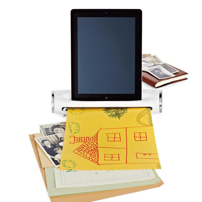 The iConvert Scanner for iPad makes digital copies of hard copy documents