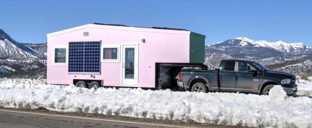 The Tucson gets its power solely from an off-grid solar setup