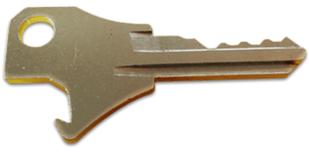 The KeyMe key/bottle opener is one of the versions available for cutting