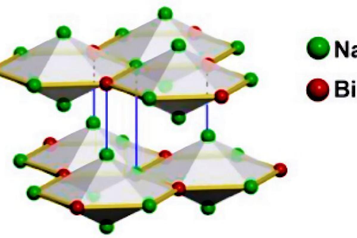 Crystal structure of sodium bismuthide (Na3Bi), one of the newly discovered 3D topological Dirac semimetals (Image: arXiv.org)