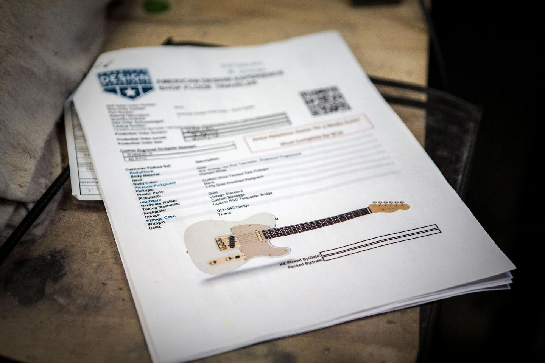 A custom guitar built to a player's chosen specs