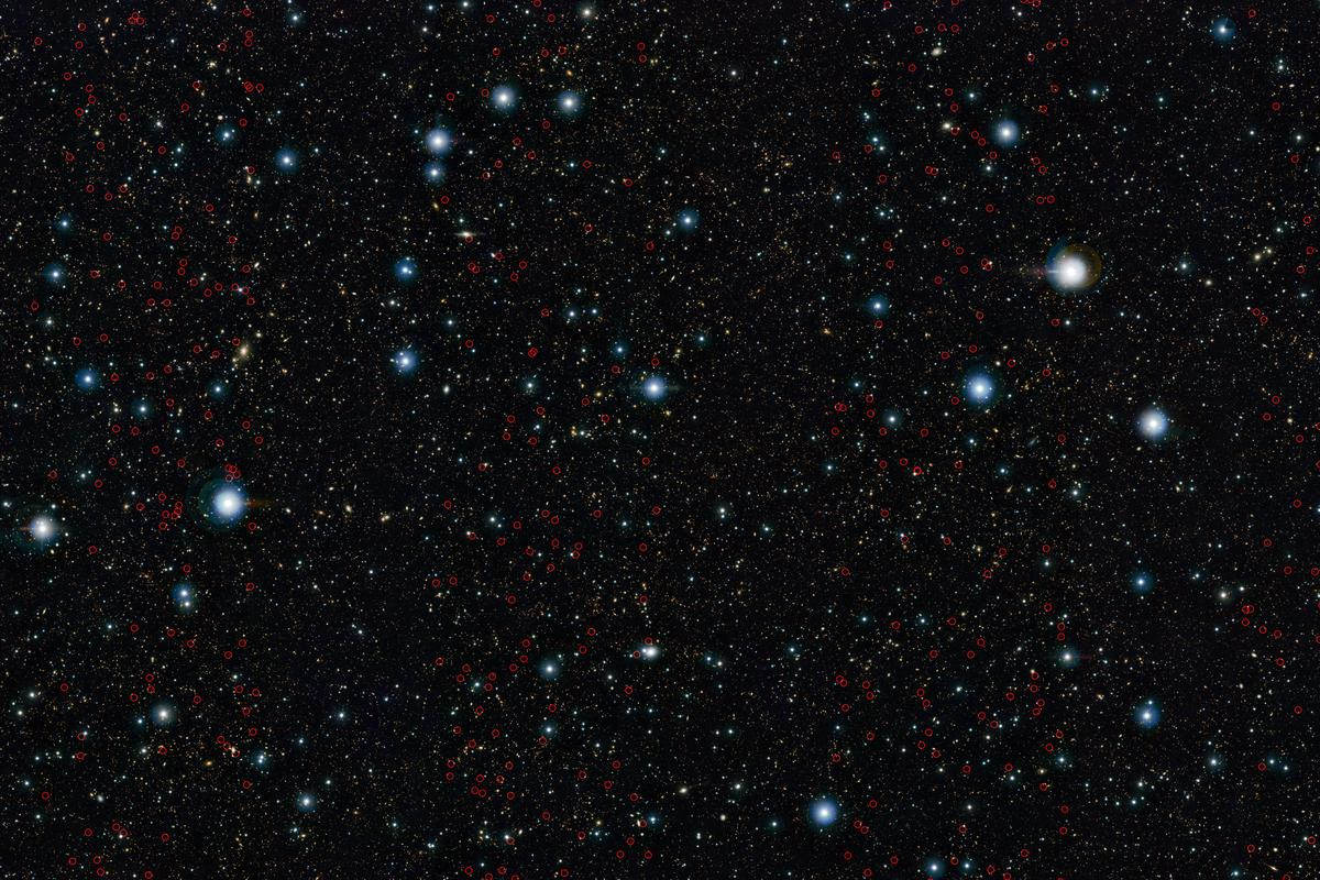 The research identified a host of distant massive galaxies in a small patch of sky around four times the size of the Moon