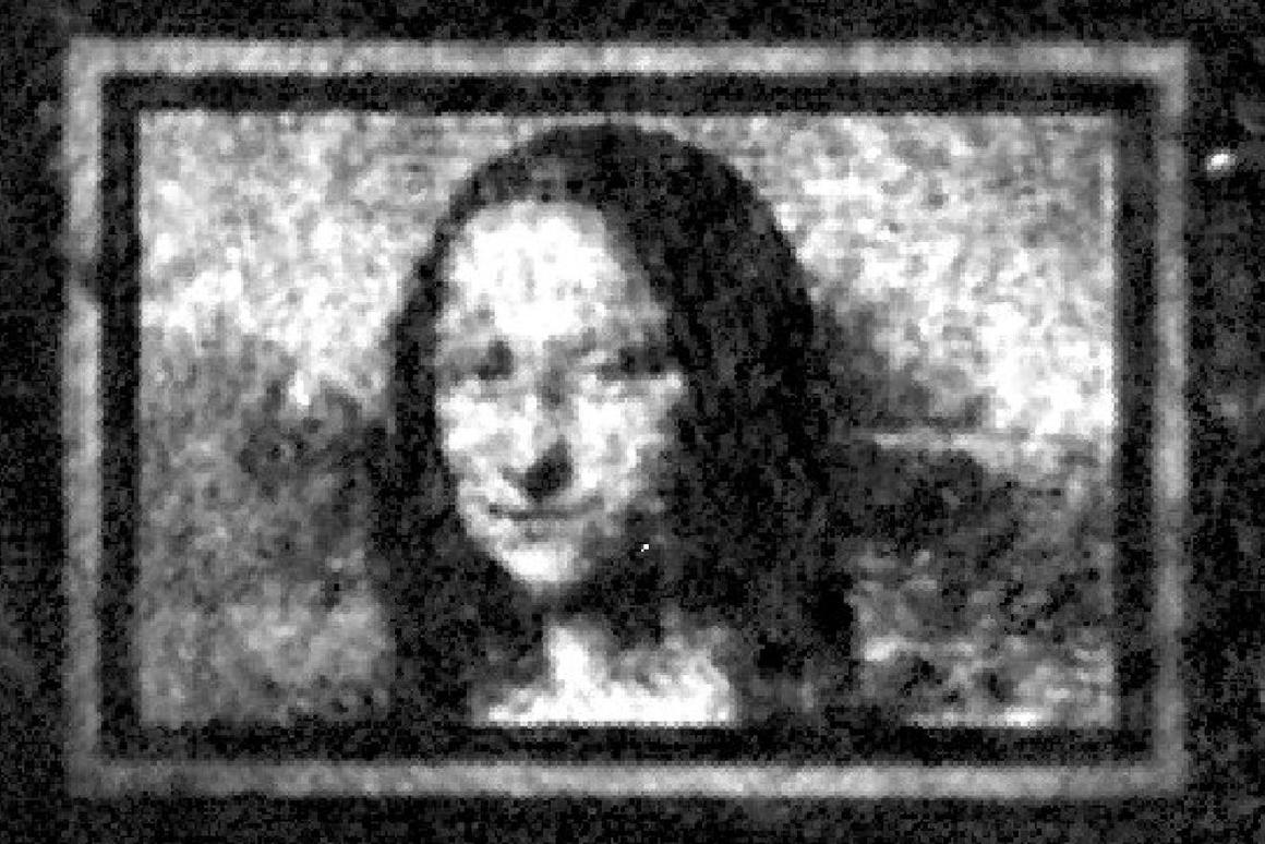 "The Mona Lisa, imaged on a ""quantum canvas"" that's only as wide as a human hair"