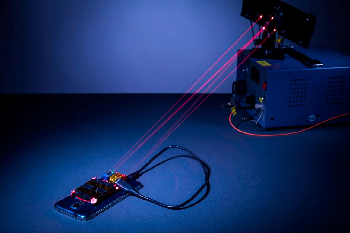 A new laser system can wirelessly recharge phones from across the room