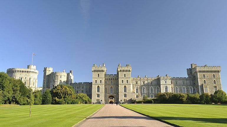 Windsor Castle - all British people live in houses like this.