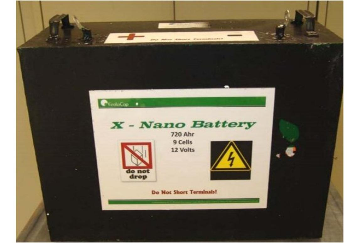 The Nano Lithium X Battery from EcoloCap