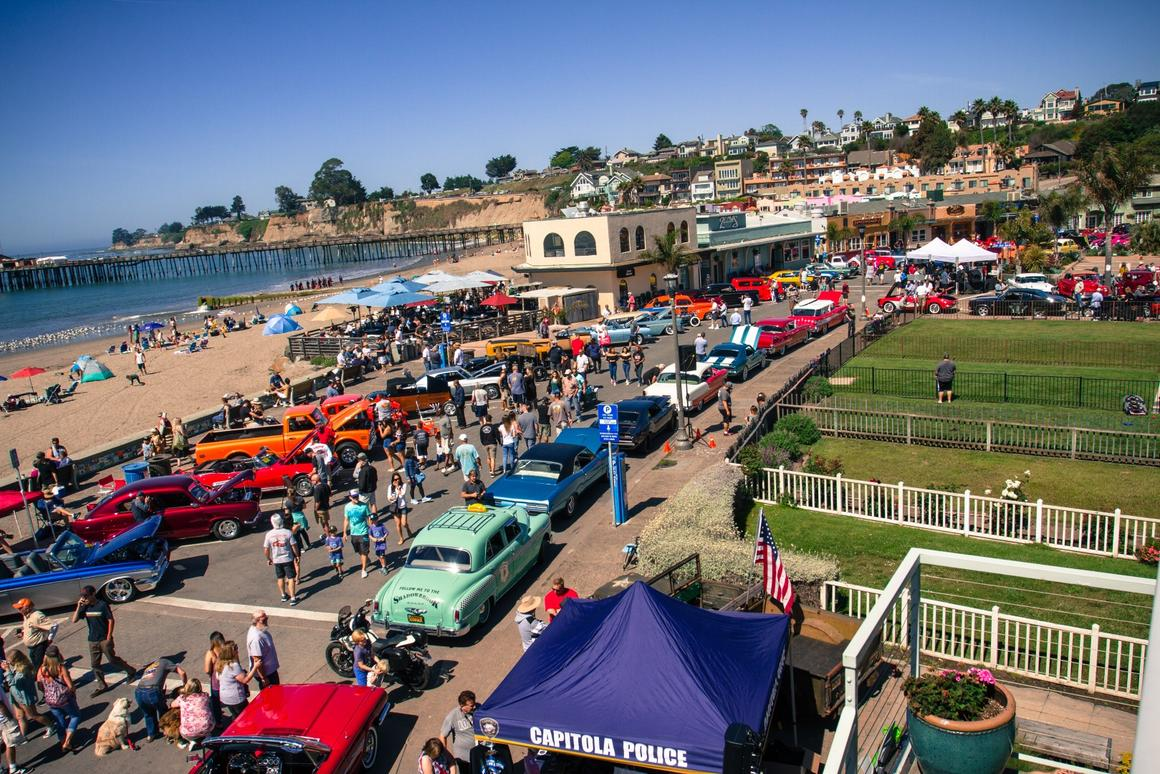 At the corner of Lawn Way and Esplande, you'll find the very heart of the Capitola Rod and Custom Car Show. There were over 250 cars on display for everyone to admire