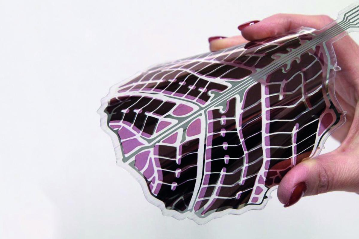 The flexible, recyclable solar panels could be used to power small devices and sensors (Photo: Antti Veijola)