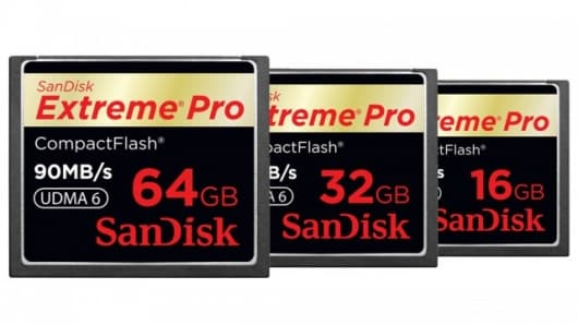 SanDisk's new line of Extreme Pro CompactFlash memory cards