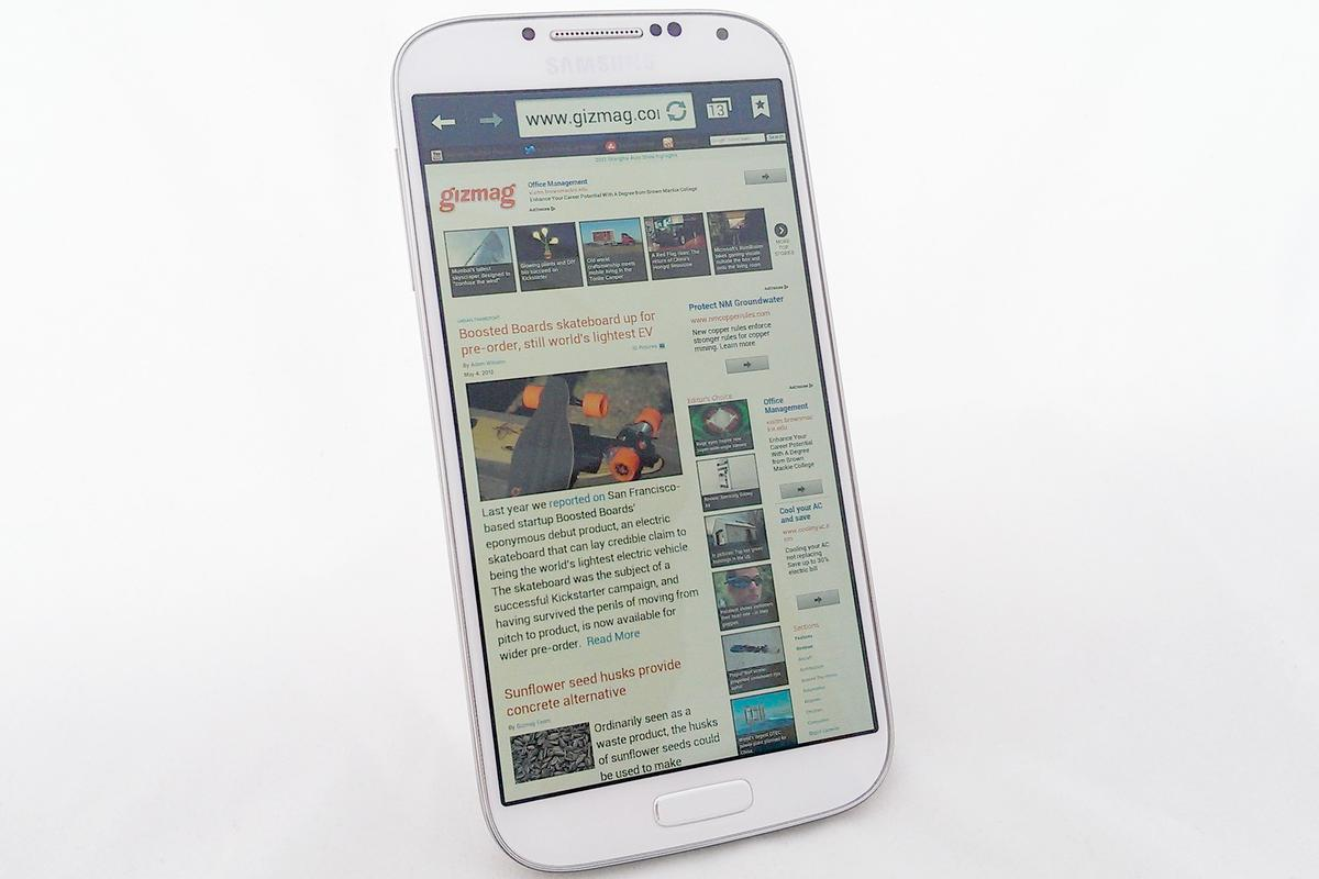 Gizmag reviews the Samsung Galaxy S4