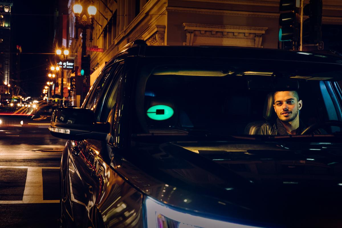 Uber riders will select the color they want the Beacon to display from within the Uber app as they are booking a ride