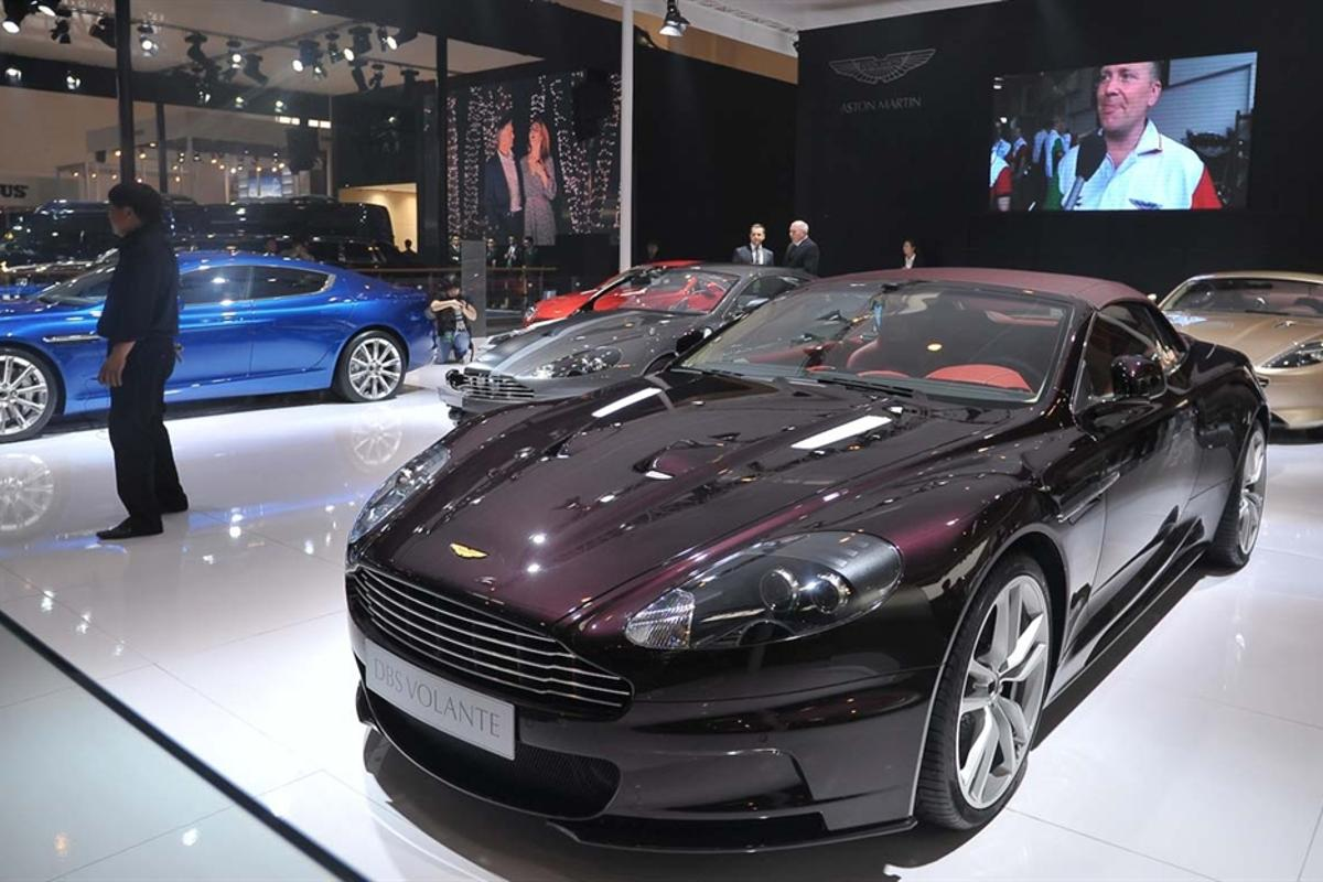 """Aston Martin showed three """"Year of the Dragon"""" special editions in Beijing"""