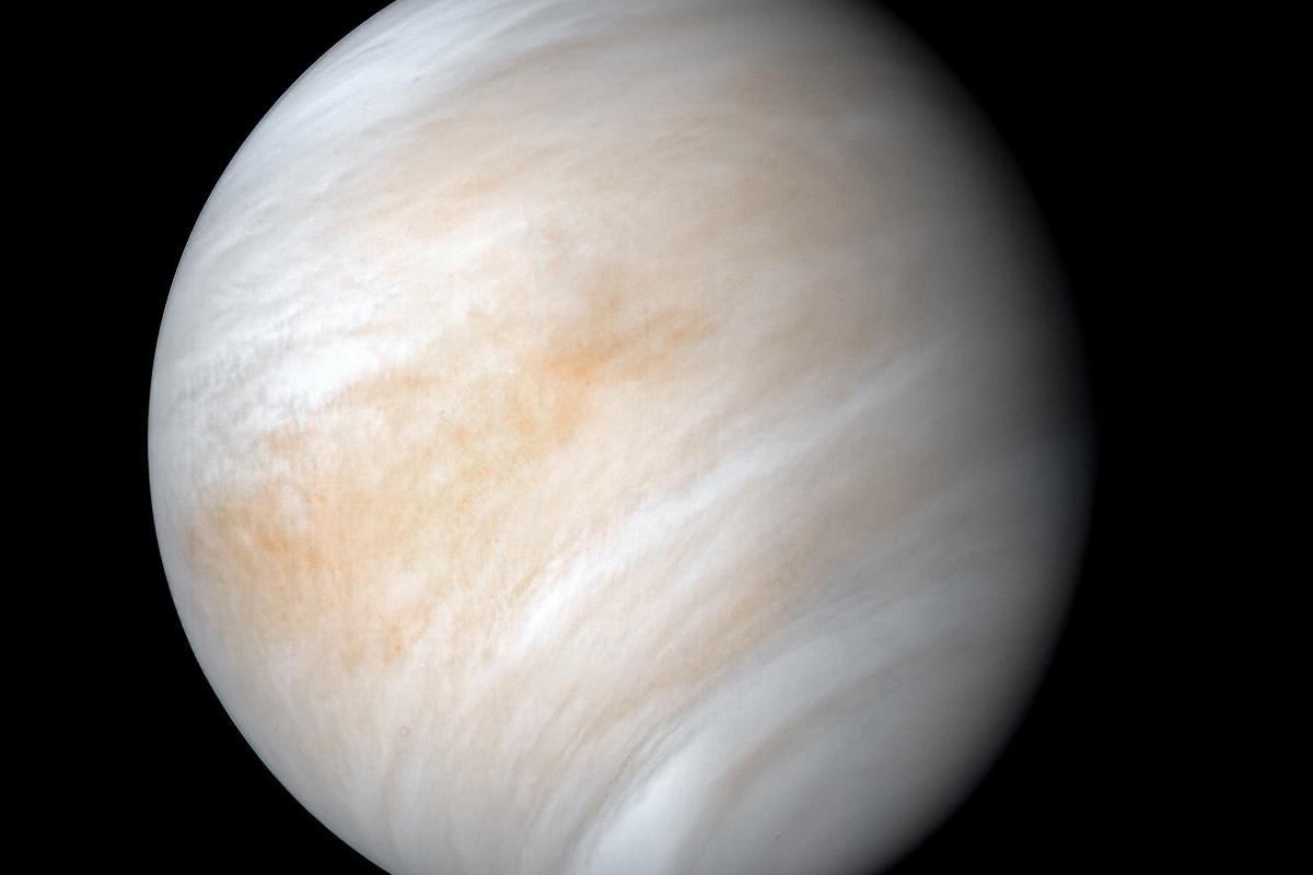 Image of Venus taken by the Mariner 10 spacecraft in February 1974