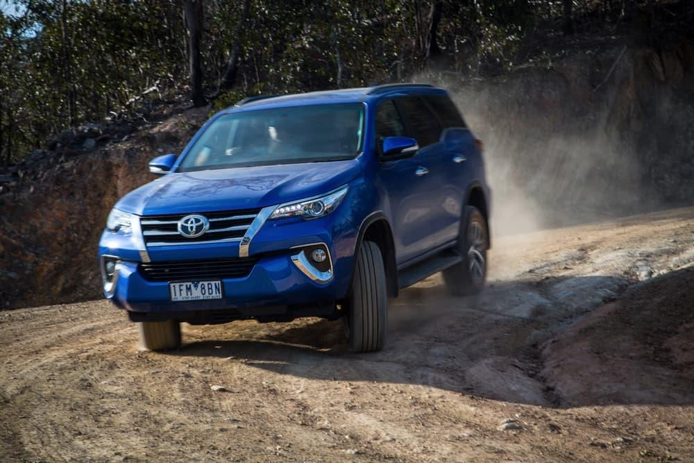 The Toyota Fortuner is capable off-road, but a bit unrefined on it