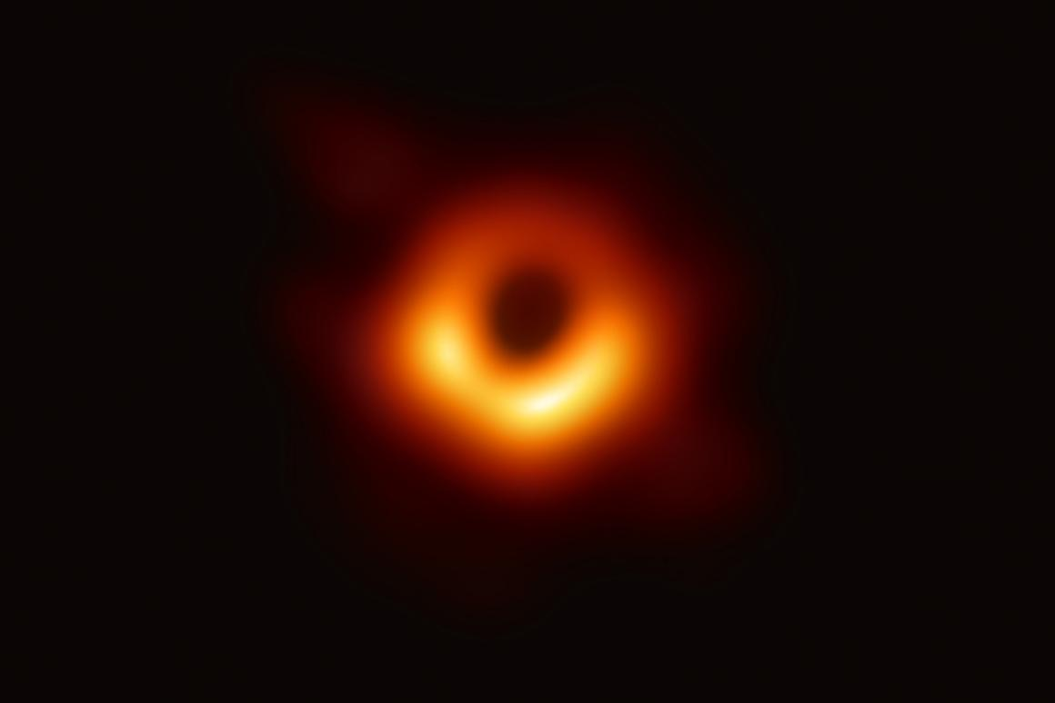 The first direct visual evidence of a supermassive black hole at the center of the galaxy M87