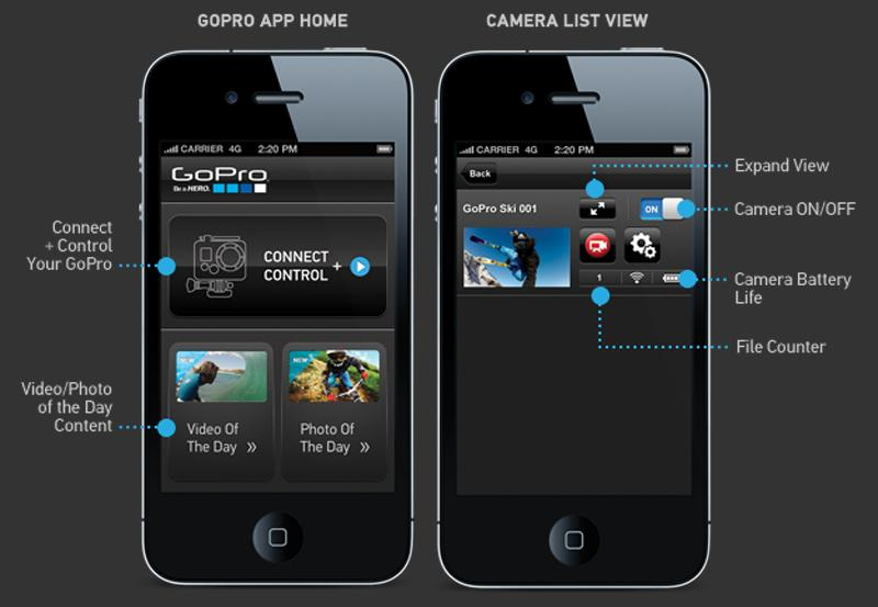 Other features of the GoPro app include the ability to monitor camera vitals such as battery life or how much space is left on your camera's SD card