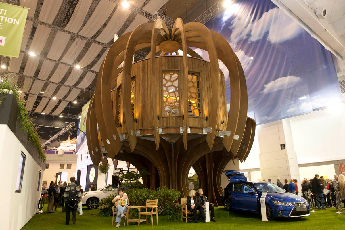 The Quiet Treehouse is currently installed at this year's Ideal Home Show in Earl's Court, London (Photo: Blue Forest)