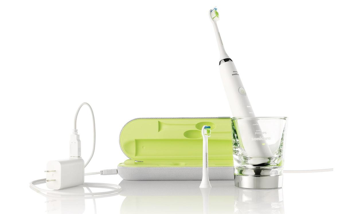The Philips Sonicare DiamondClean Toothbrush charges when placed in the included rinsing glass