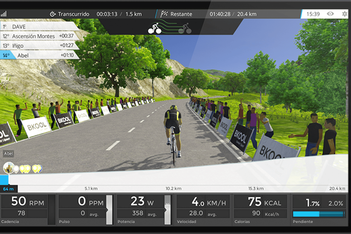Bkool lets users create animated interactive first-person videos of any cycling route in the world