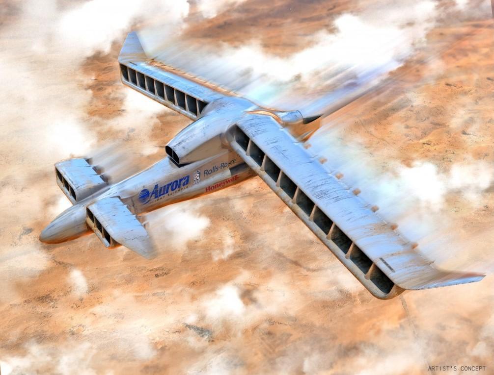 Artist's concept of LightningStrike in flight