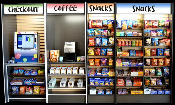 """An example of the type of break room """"mini market"""" that could be accessed through the RFID microchips"""