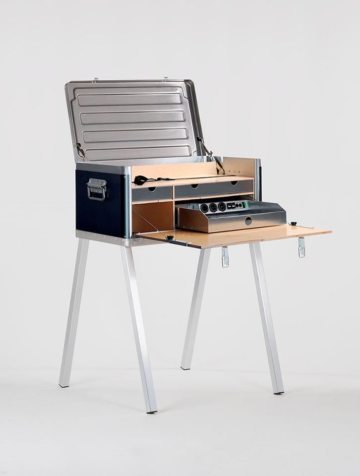 The KANZ Field Power Desk is designed to serve as a self-sufficient mobile work station