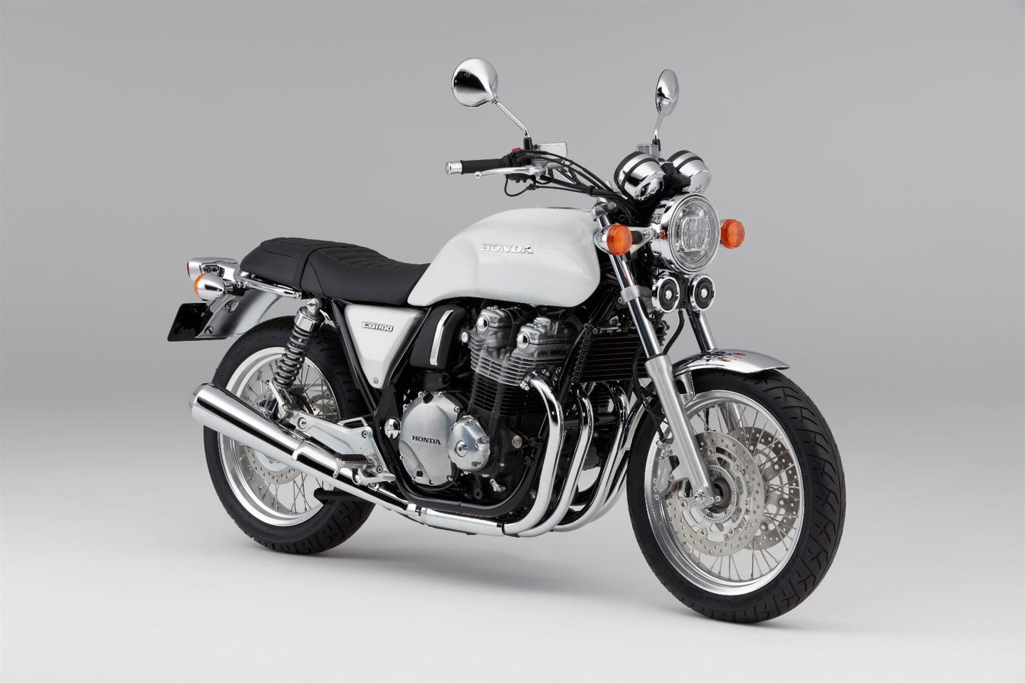 The 2017 Honda CB1100EX in Pearl Sunbeam White color