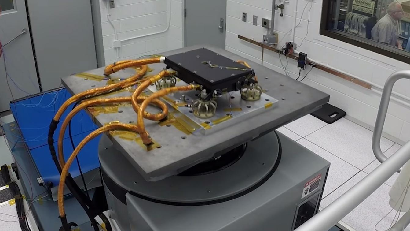 MEDLI2 undergoing vibration testing