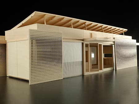 An architectural model of LUMENHAUS (photo by Javier Alonso Huerta)