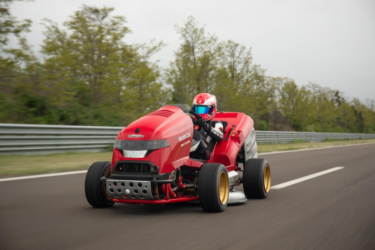 A raging superbike at heart, the Mean Mower V2 is now officially the fastest accelerating lawnmower in history