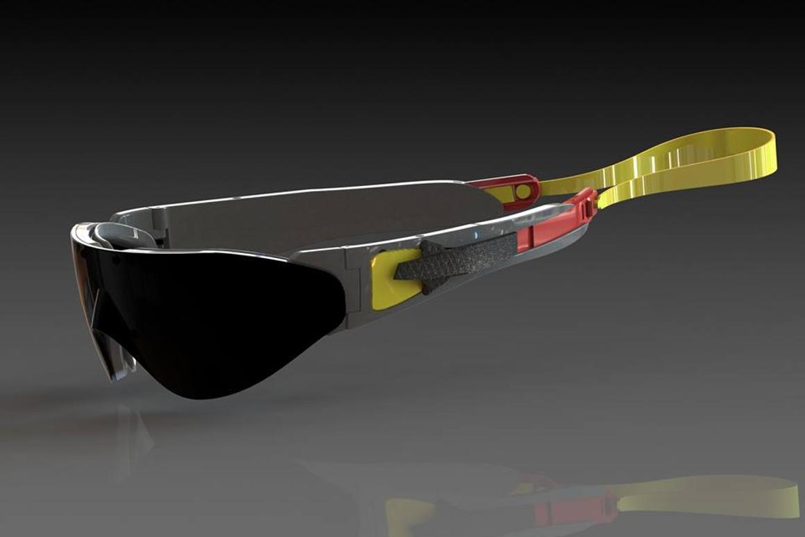 A potential final design for the Sealz sunglasses/goggles