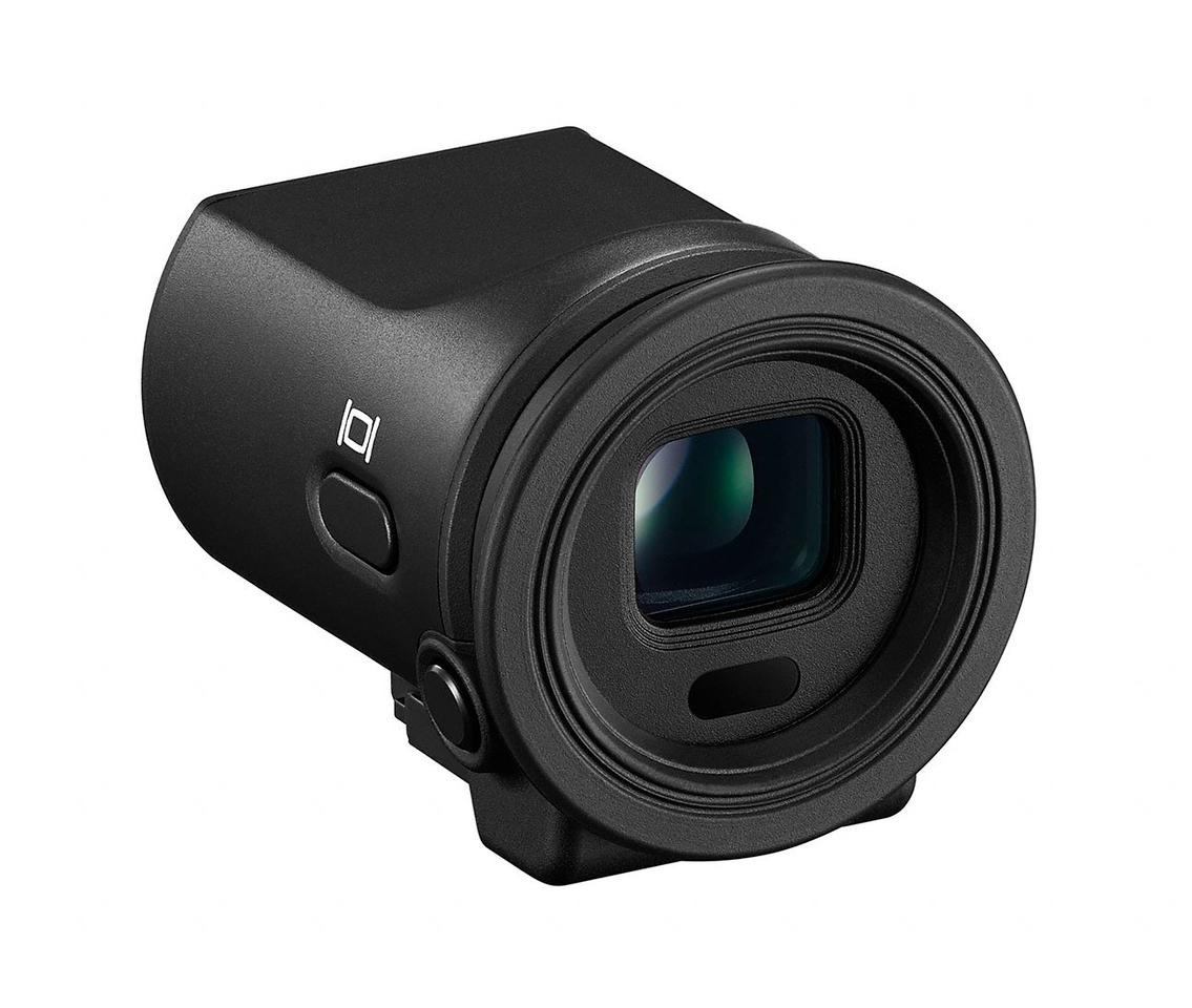 The optional 2,359k-dot DF-N1000 electronic viewfinder