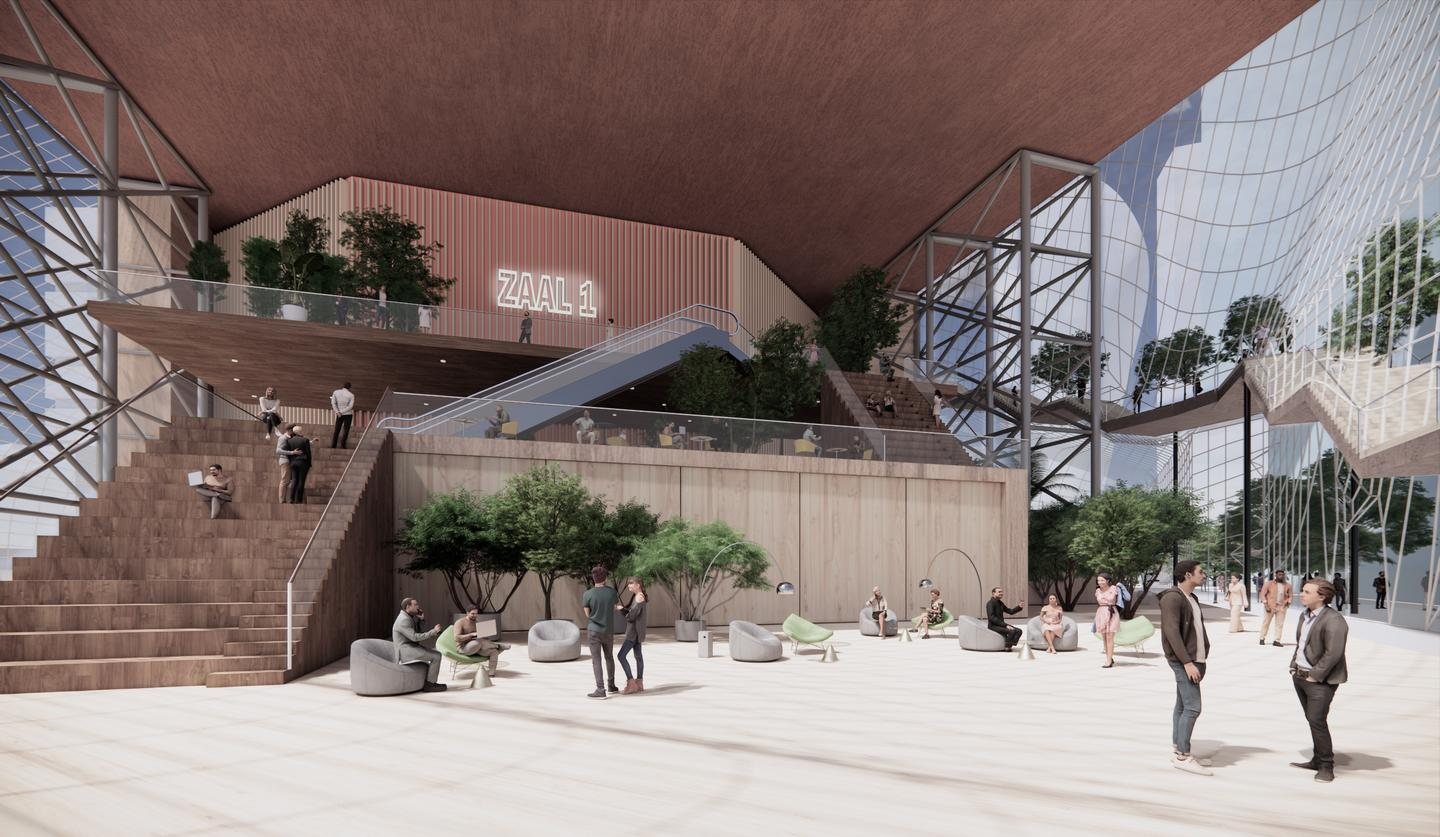 The Hill Quarter & The Music Mountain is envisioned as a living room for the city, says MVRDV