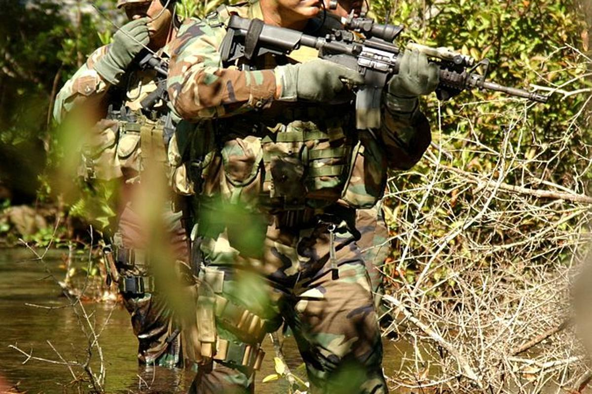 USAF special forces on a training mission