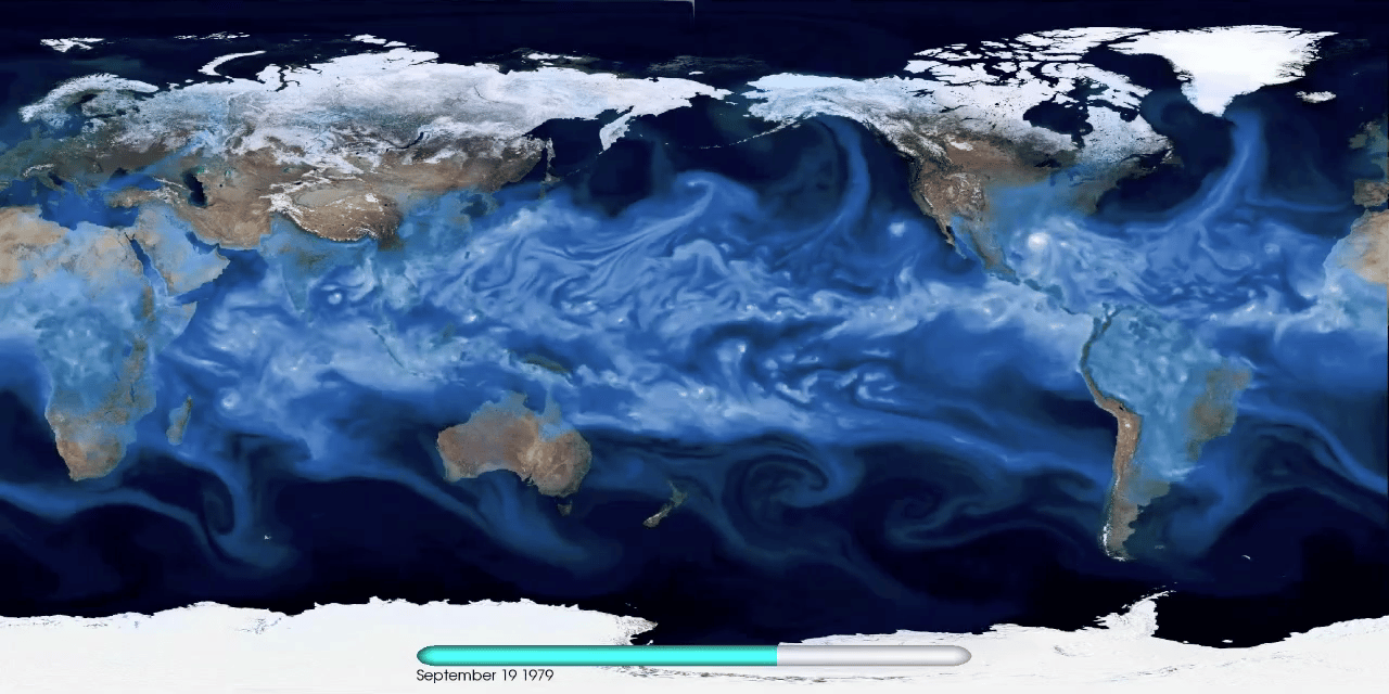 A high-resolution simulation of the global climate provides a much better representation of extreme weather events than previous lower-resolution models (Image: Department of Energy/Berkeley Lab)